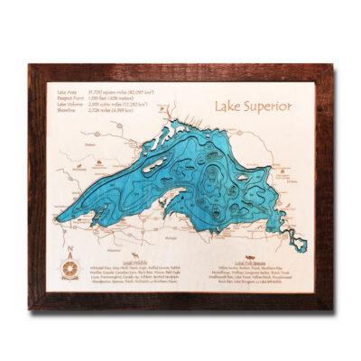 Lake Superior Wood Map