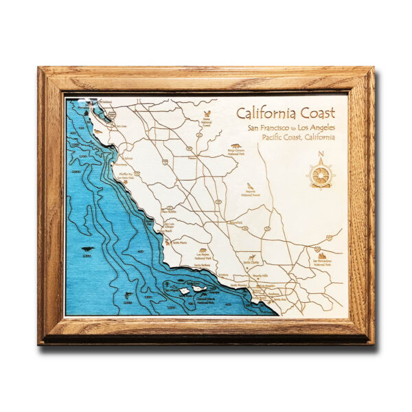 Map of the California Coast
