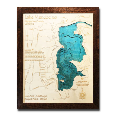 Lake Mendocino Wood Map