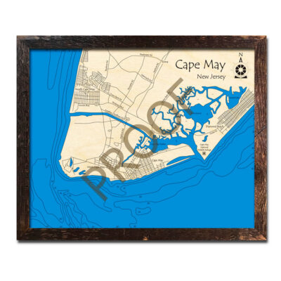 Cape May 3d wood map