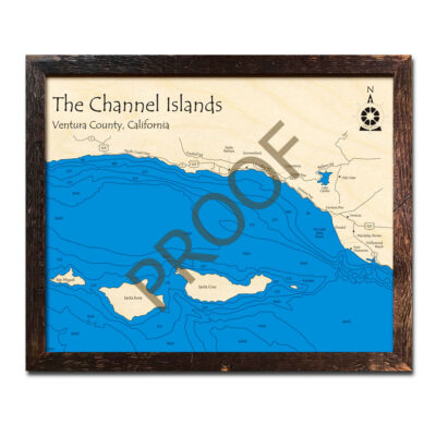 Channel Islands wood map