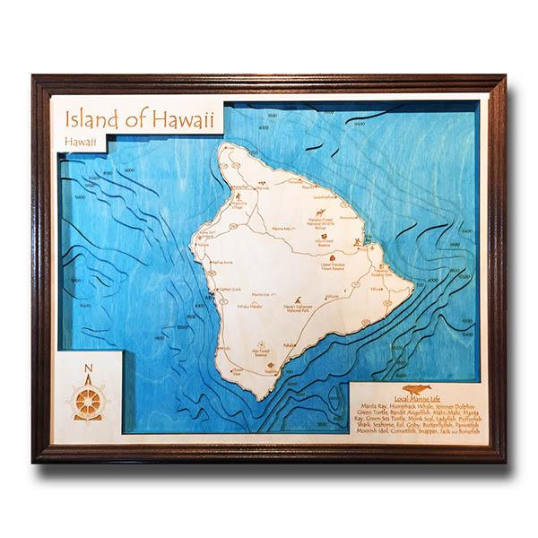 16″ x 20″ 3-D Wood Chart