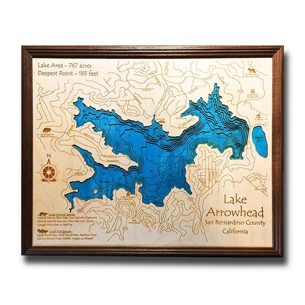 24″ x 30″ 3-D Wood Chart