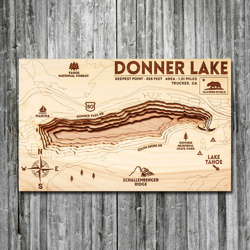 Donner Lake Wood Map, Truckee CA