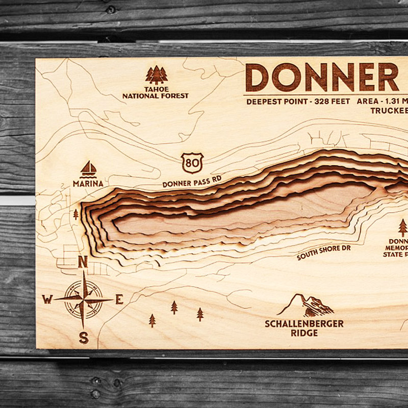 Donner Lake Map