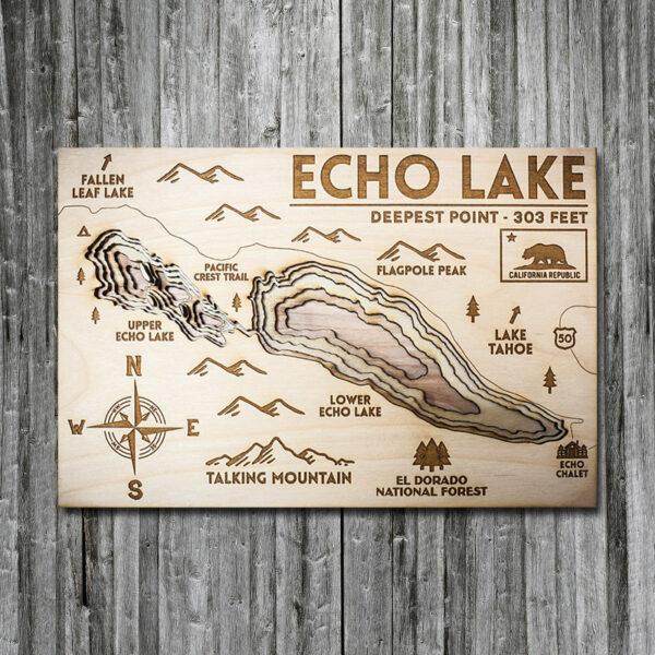 Echo Lake Wood Map near Lake Tahoe