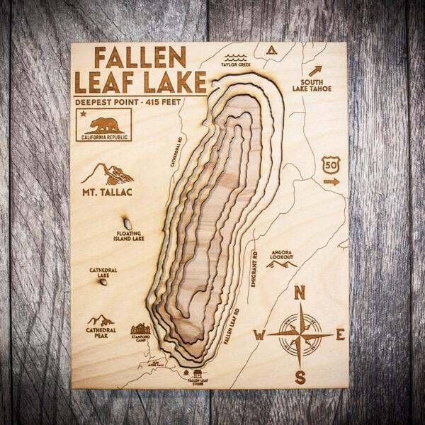 Fallen Leaf Lake Topo Map for Sale