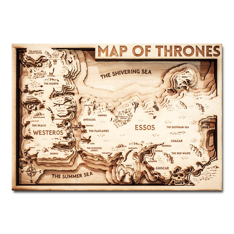 HBO Game of Thrones Map, Westeros, GOT gifts