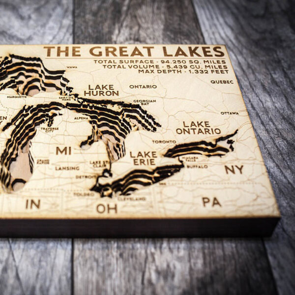 great lakes wood map depth chart