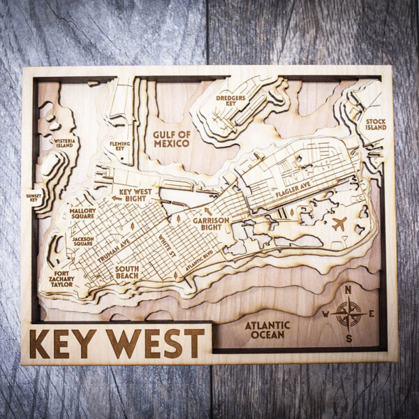 key west wood wall art