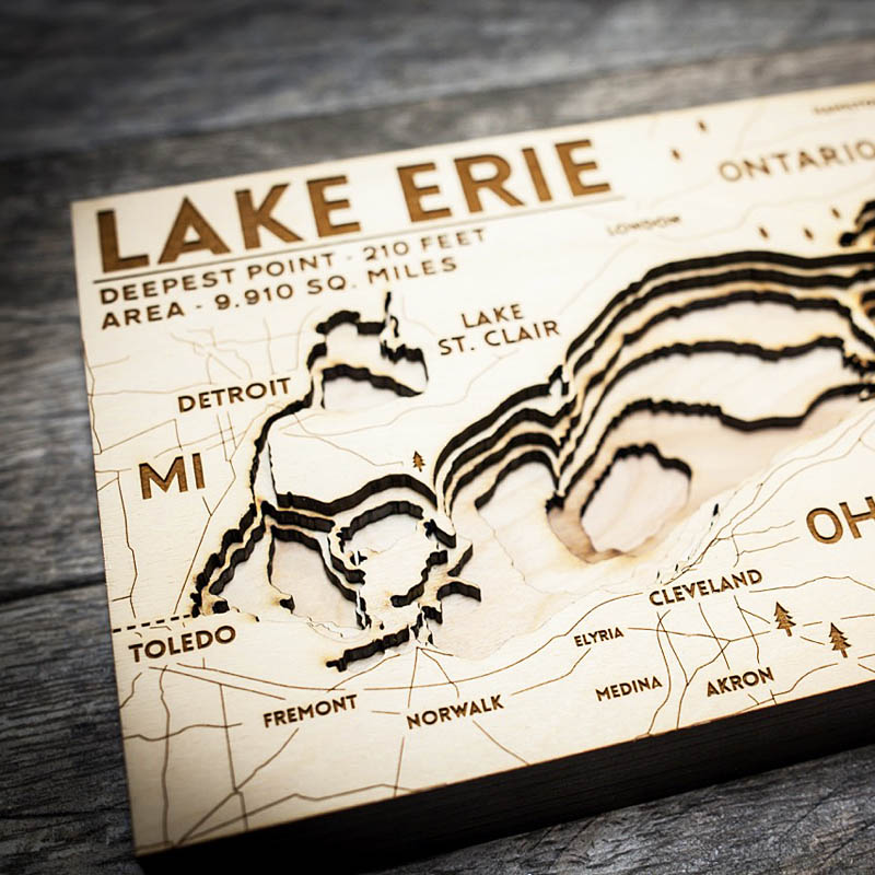 Lake Erie Nautical Map