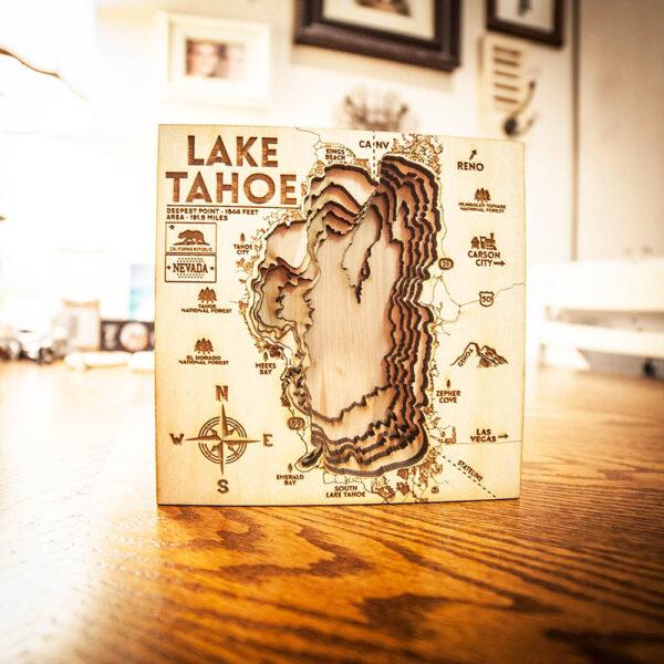 Small Lake Tahoe 3D nautical chart map