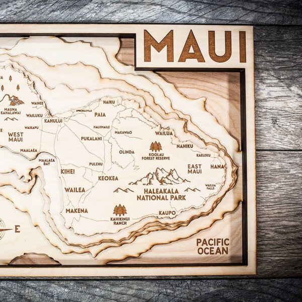maui nautical wood chart