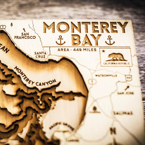 Monterey Bay Map for sale