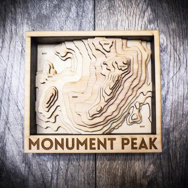 Monument Peak 3D Wooden Map