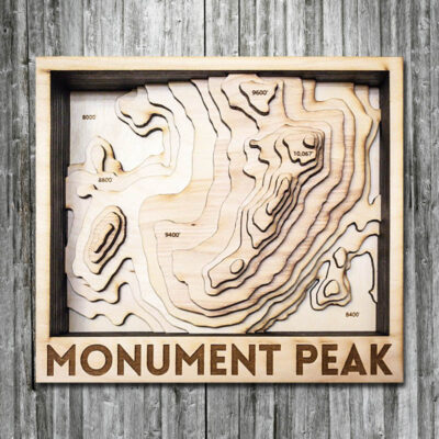 Monument Topographic Wood Map