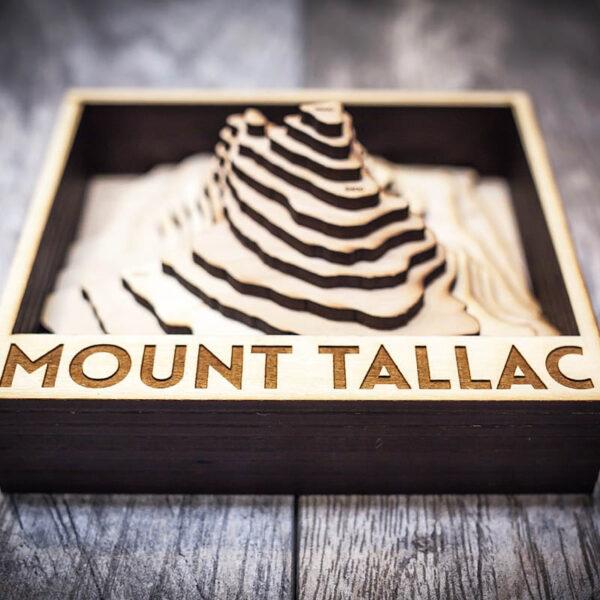 Mount Tallac Topo Map, Wooden Home Decor