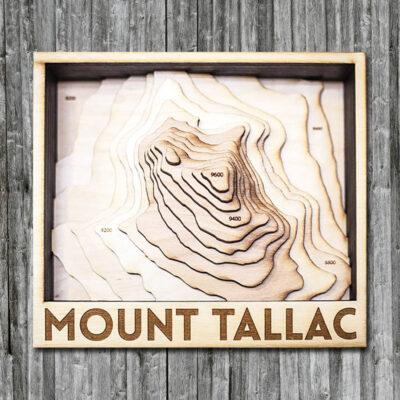 Mount Tallac Wooden 3D Map