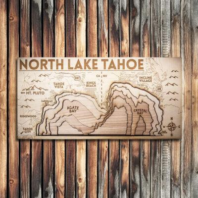 North Lake Tahoe Wood Map