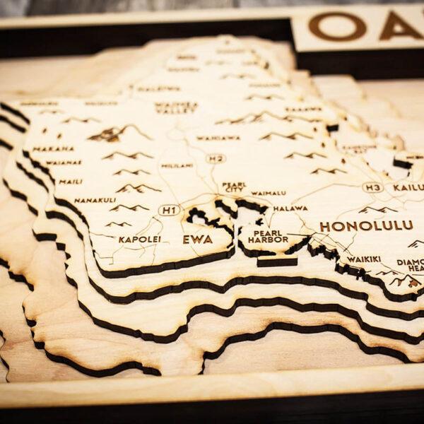 Oahu Topo Map