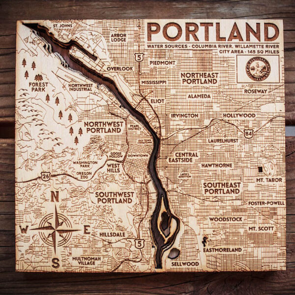 Portland 3D Nautical Map