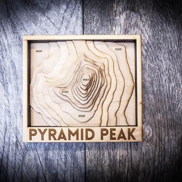 Pyramid Peak California Map
