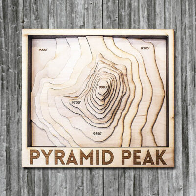 Pyramid Peak Wood Map in 3D