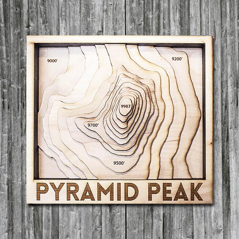 Pyramid Peak Wood Map in 3D