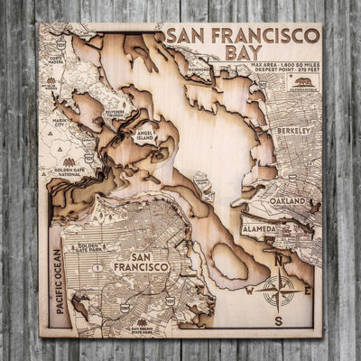 san francisco wood map in 3d