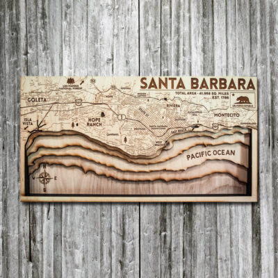 Santa Barbara Wood Map, Topographic