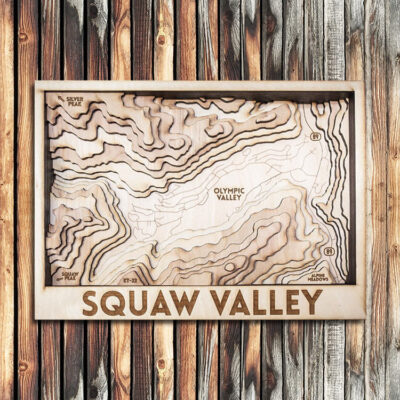 Squaw Valley 3D Wood Map