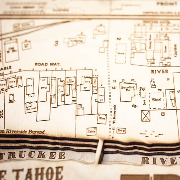 Truckee River Wood Map