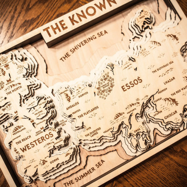 Game of Thrones Map, GOT Map, The Known World
