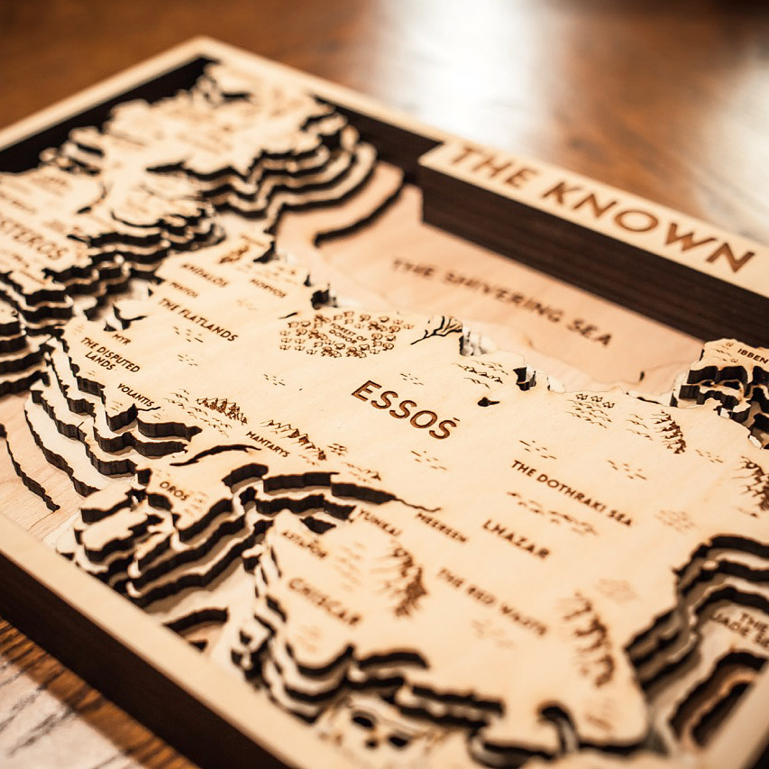 Gift game of thrones map the Winterfell Castle