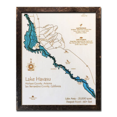 Lake Havasu Wood Map