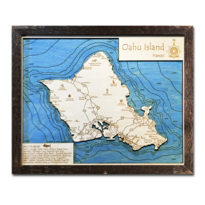 Oahu Wood Map