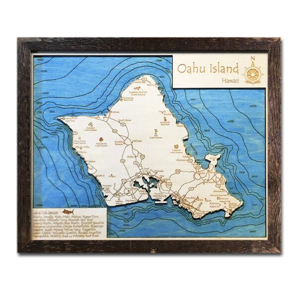 Oahu Wood Map