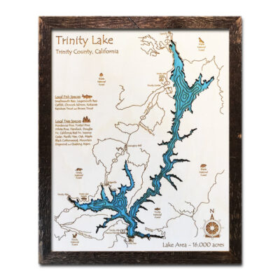 Trinity Lake Wood Map
