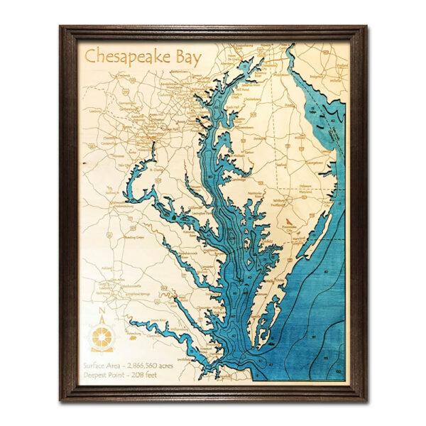 Chesapeake Bay Wood Map