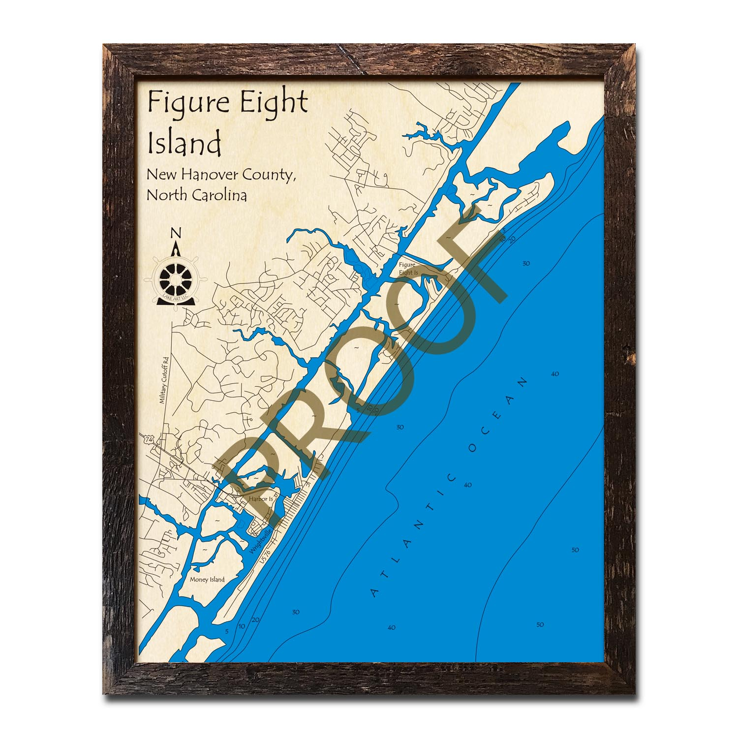 Figure Eight Island Map