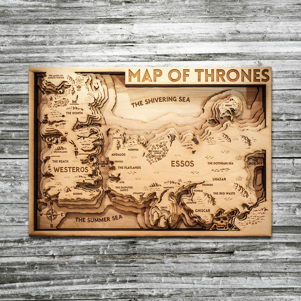 Game of thrones map, Game of Thrones Gift HBO