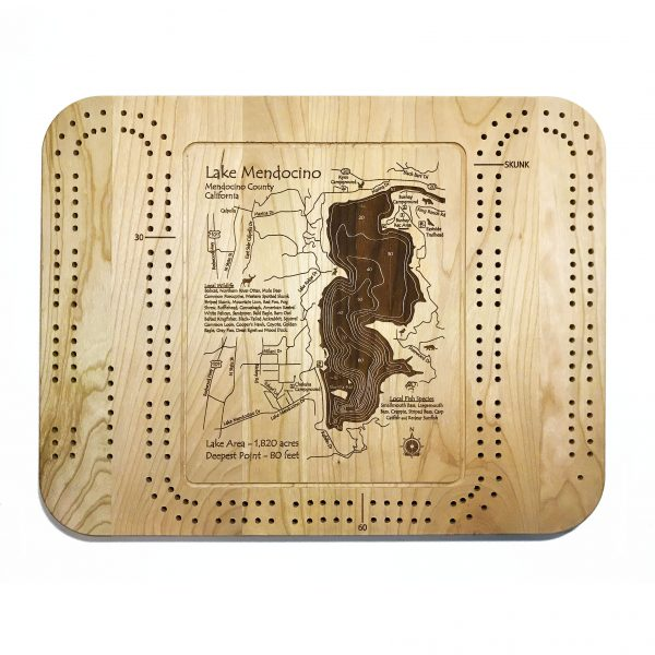 lake mendocino cribbage board