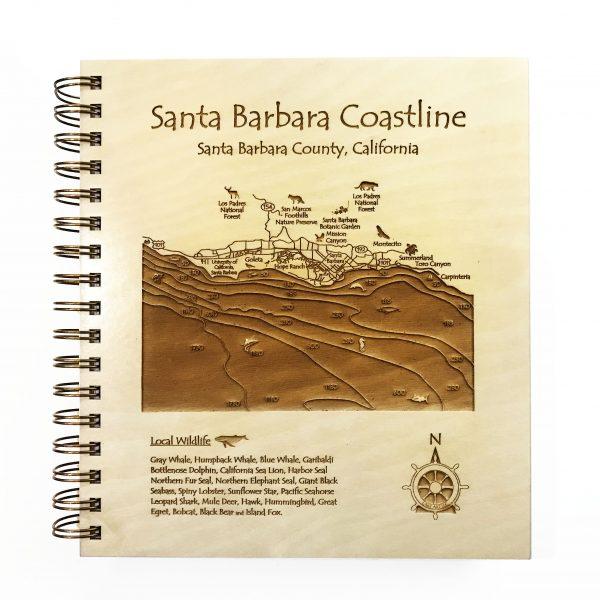 Santa Barbara wooden journal