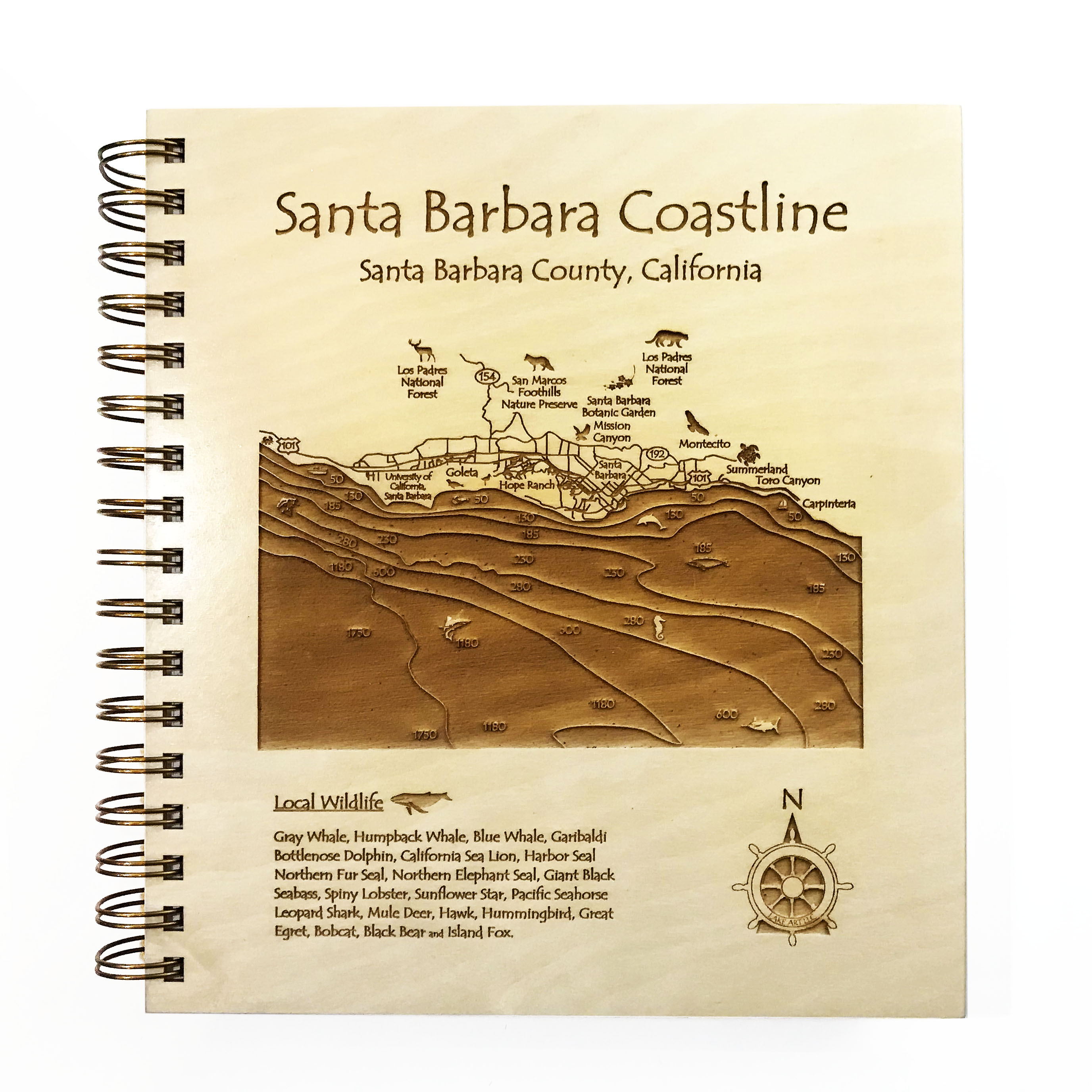 Santa Barbara wooden journal