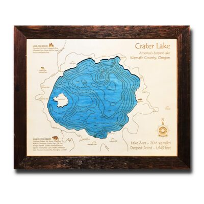 Crater Lake Wood Map