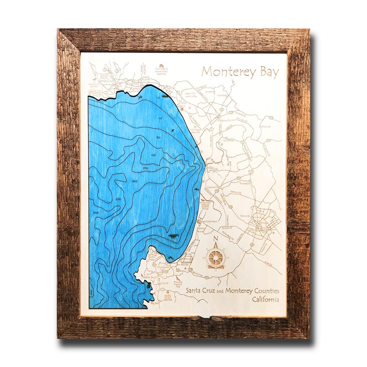 monterey bay wood map