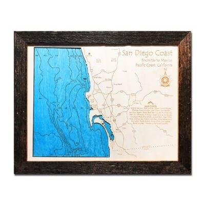 3D Wood Map of San Diego