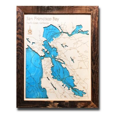 San Francisco Wood Map for sale
