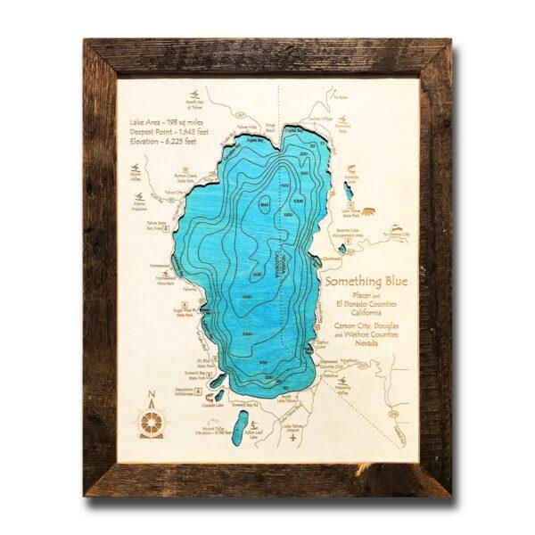 Lake Tahoe Wood Maps and Charts