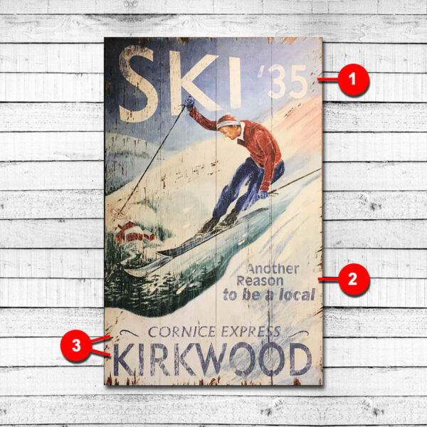 Kirkwood Mountain Lake Tahoe Vintage Sign